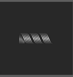 Initial letter m logo modern creative monogram vector