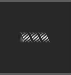 initial letter m logo modern creative monogram vector image