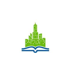 landmark book logo icon design vector image