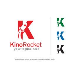 Letter k rocket logo template vector