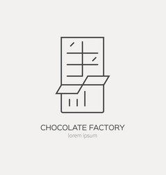 line icon of chocolate vector image