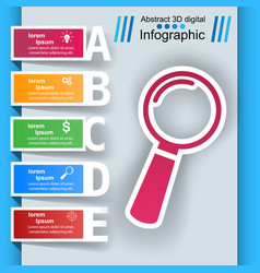 loupe search ibusiness nfographic vector image