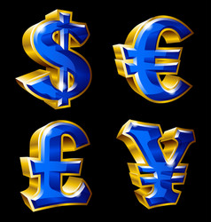 Main currency signs vector