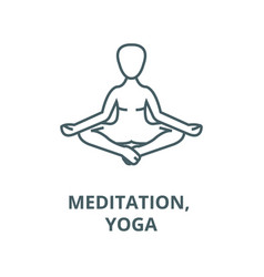 meditation yoga posturelotus line icon vector image