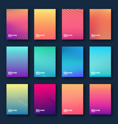 minimal cover design halftone gradients abstract vector image