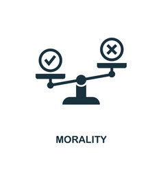 Morality icon monochrome style design from vector