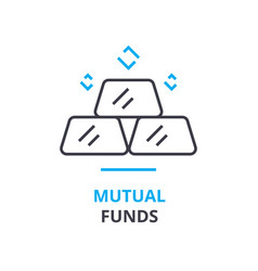 Mutual funds concept outline icon linear sign vector