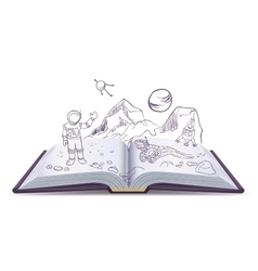 Open book Martian Science Fiction space vector