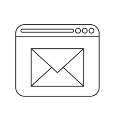 Page web email message communication outline vector