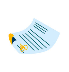 paper document signature agreement vector image