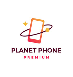 planet phone logo icon vector image