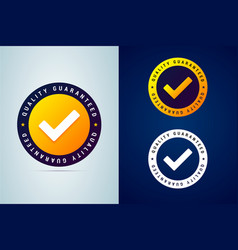 Quality guaranteed - tested badge vector