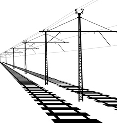 Railroad overhead lines contact wire vector