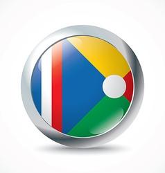 Reunion flag button vector