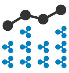 Ripple analytics flat icon vector