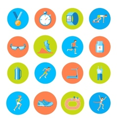 Running icons round vector image