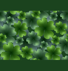 Seamless floral texture with a happy four-leaf vector
