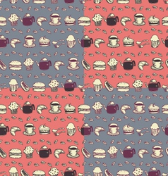 seamless food and drink pattern vector image vector image