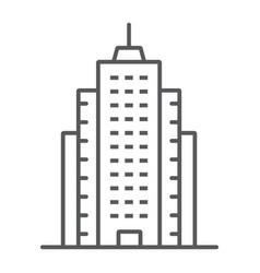 Skyscaper thin line icon office and architecture vector
