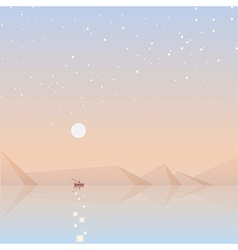 Soft landscape background vector