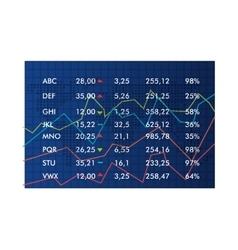Stock market in numbers and statistics table vector