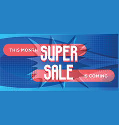 Super sale for web app banner vector