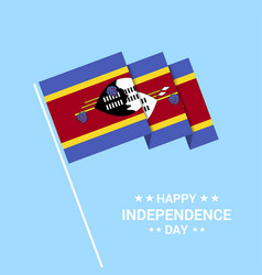 Swaziland independence day typographic design vector