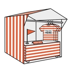 Tent for trade the red stripes vector
