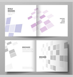 the of the editable layout of two covers vector image