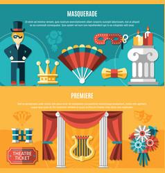theatre flyer set vector image