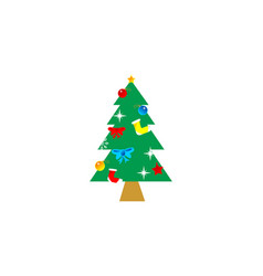 tree christmas atribute logo vector image