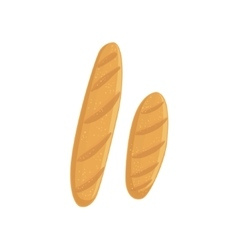 Two Baguette Bakery Assortment Icon vector image