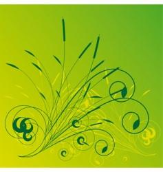 vegetation background vector image