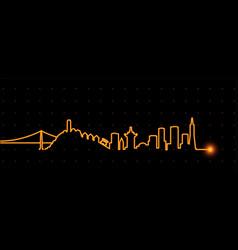 vit sanfrancisco vector image