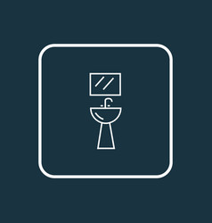 Wash stand icon line symbol premium quality vector