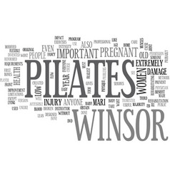 winsor pilates text word cloud concept vector image