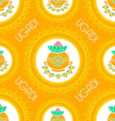 background for ugadi celebration vector image