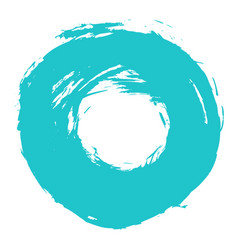 Brushstroke circle form vector