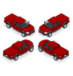 Isometric Pickup truck vector image