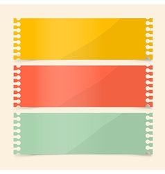 Perforated Papers Set vector image vector image