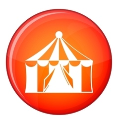 Circus tent icon flat style vector
