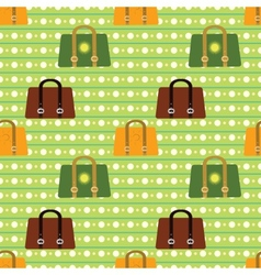 Colorful seamless pattern various bags on vector