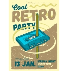Cool Comic Retro Party Poster Template Pencil vector image vector image