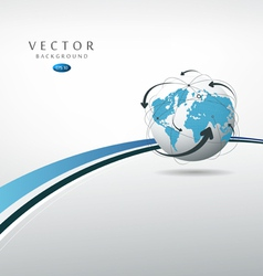 Globe connections concept design vector image vector image
