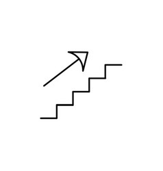 up stairs icon vector image