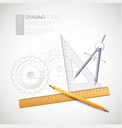 with drawing tools vector image