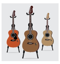 Acoustic Electric Guitar set vector image vector image