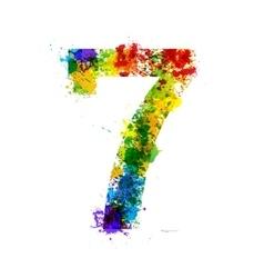 Color Paint Splashes Gradient Font Symbols vector image vector image