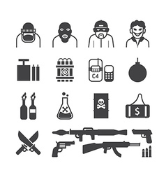 Icons set terrorist design vector