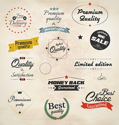 Retro styled sale labels vector image